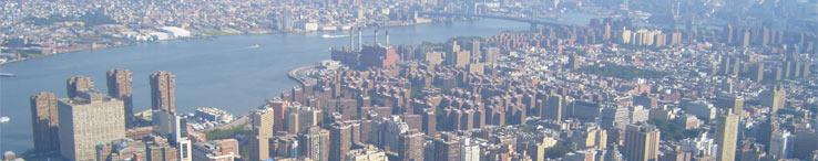Карта Нью Йорка с достопримечательностями, США